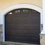 Clopay short panel insulated door with arched top