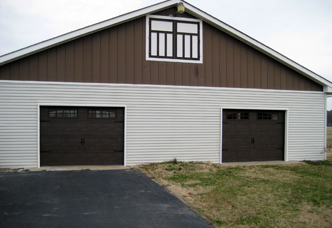 Carriage Doors Stamped Steel Mount Garage Doors