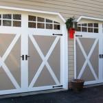Sandtone Coachman door with crossbuck design