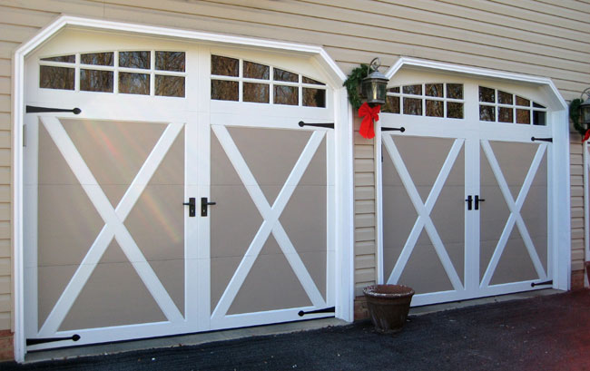 Sandtone Coachman Door With Crossbuck Design