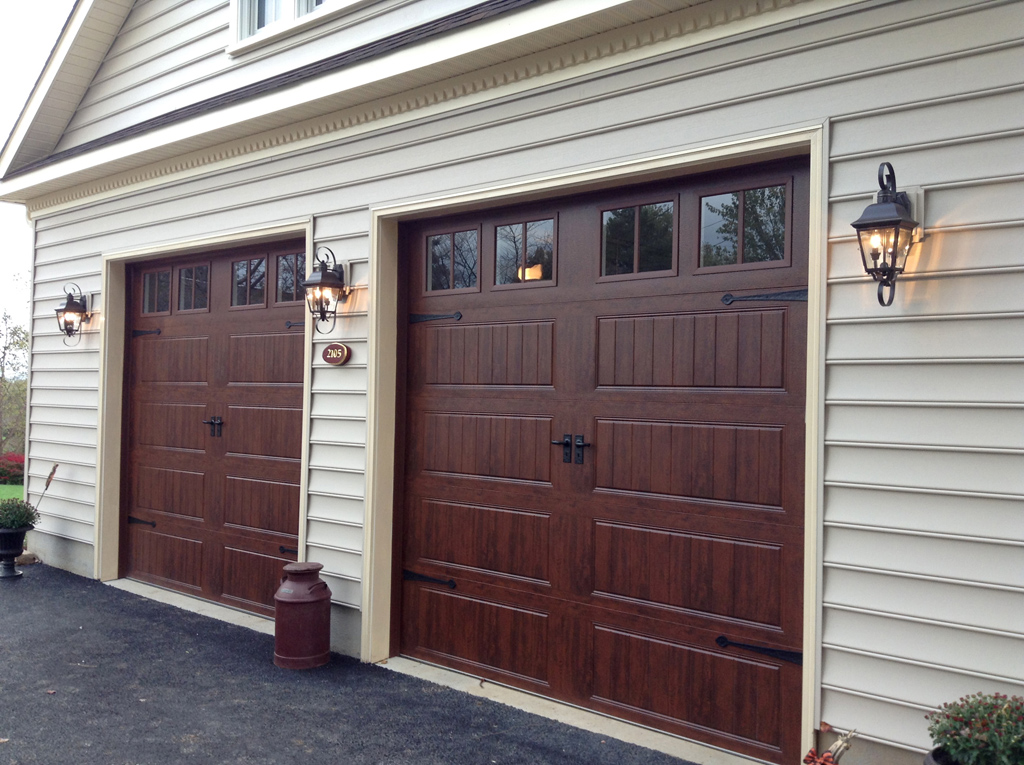 Carriage doors stamped steel mount garage doors for Clopay steel garage doors