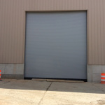 22x25 rolling steel doors from chi with sloped bottom bar