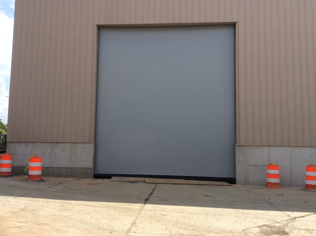 Beautiful 22x25 Rolling Steel Doors From Chi With Sloped Bottom Bar