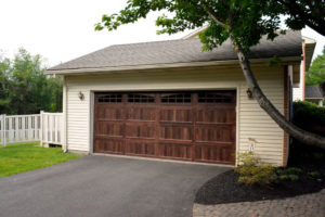 Chi 5916 Long Panel Mahogany Door Mount Garage Doors