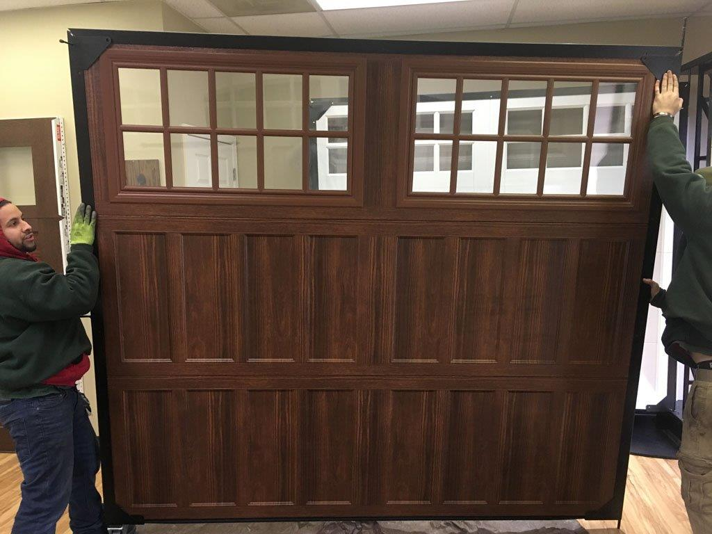 1-8×7 Amarr Classica in walnut finish with Northh&ton Style \u2013 showroom display door no decorative hardware ... : doors used - pezcame.com